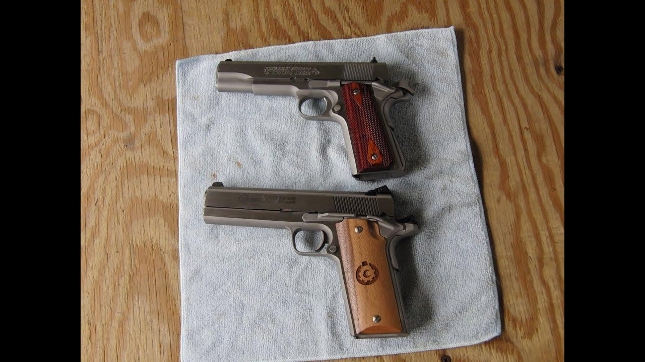 45acp vs 357 magnum 1911 recoil comparison, Colt / Coonan ...