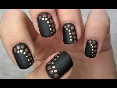 Black Matte Nail Polish Designs