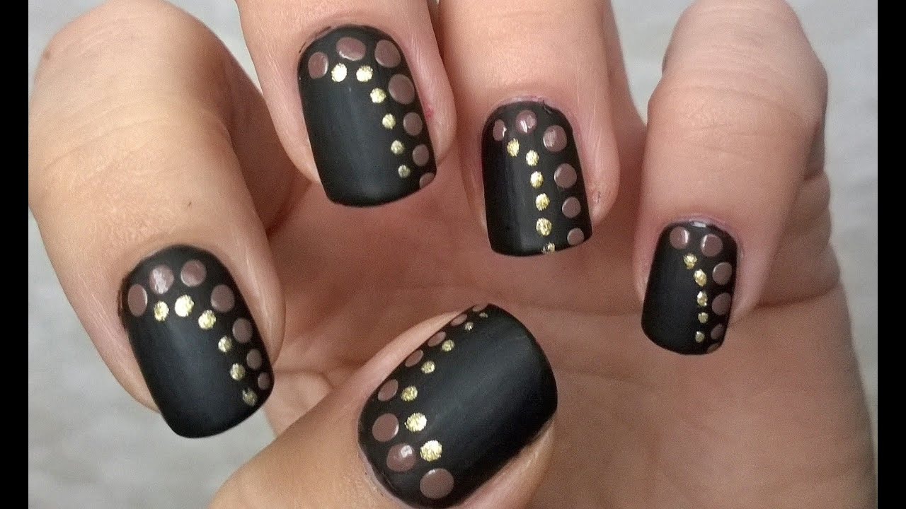 Black Matte Nail Polish Designs #1 EASY NAILS For