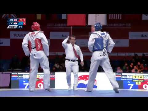 Wuxi 2018 World Taekwondo Grand Slam +80kg Mahama CHO(GBR) vs Vendran GOLEC(CRO)