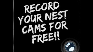 Record your Nest Camera's for Free!!