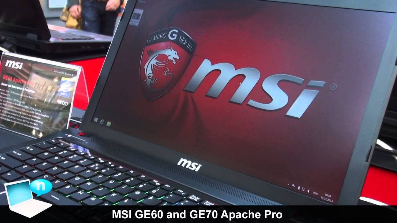 Msi Ge60 And Ge70 Apache Pro Gaming Notebooks With Nvidia Geforce