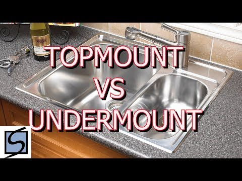 Topmount vs Undermount Sinks| Which sink should I choose for my Kitchen