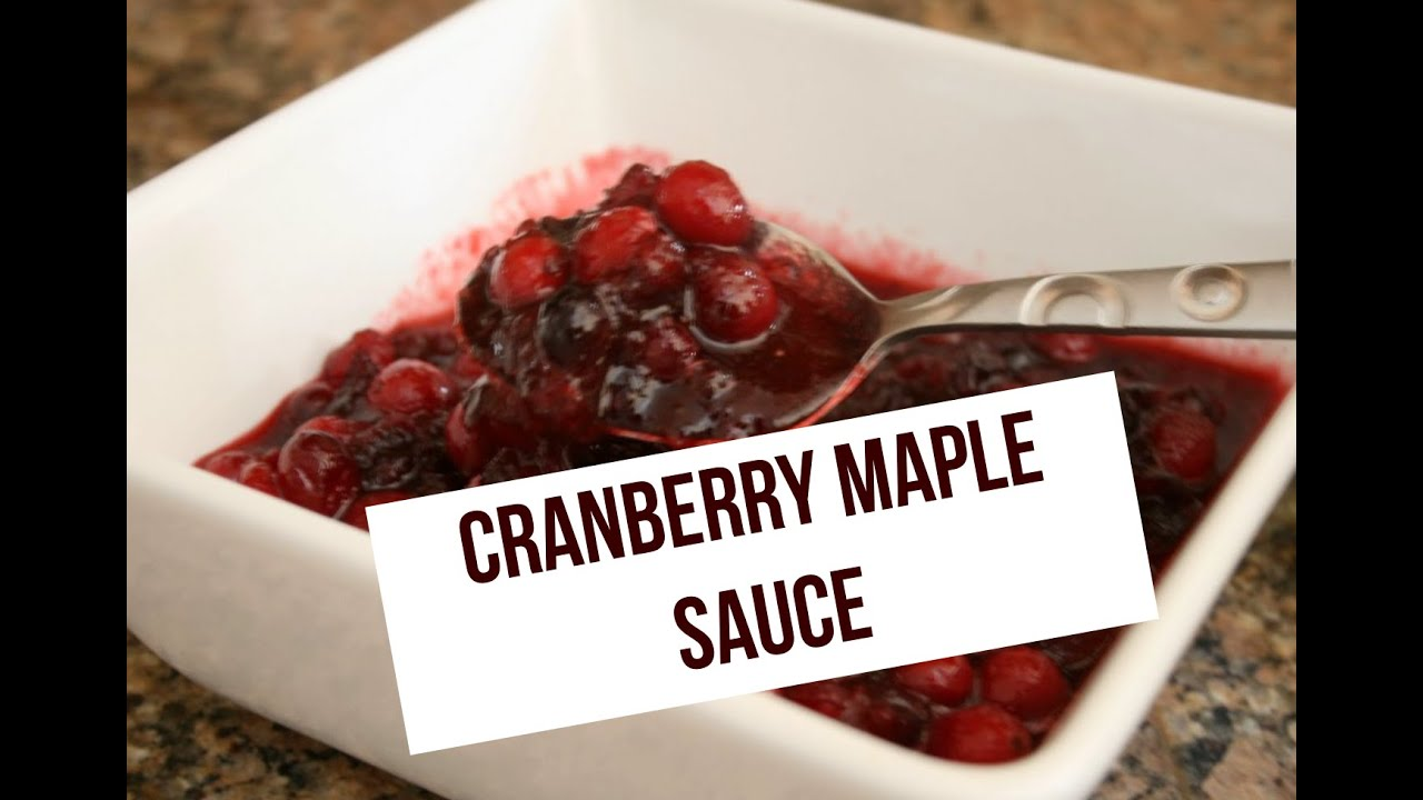 Cranberry-Maple Sauce