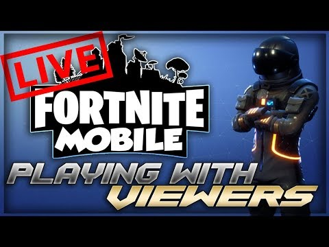 Fortnite Mobile Gameplay Stream!! Playing With Viewers!! Trying 50v50 Mobile!!