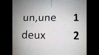 Französisch lernen - Die Zahlen von 1-10