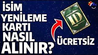 ÜCRETSİZ İSİM YENİLEME KARTI NASIL ALINIR - PUBG Mobile