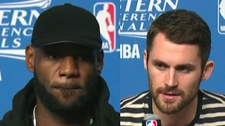 LeBron James & Kevin Love Postgame News Conference | Cavs vs Celtics ECF Game 1 | May 17, 2017