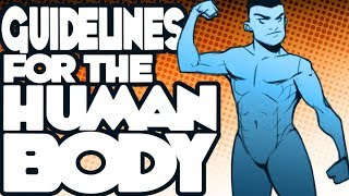 Drawing Tutorial #1 - Guidelines For The Human Body