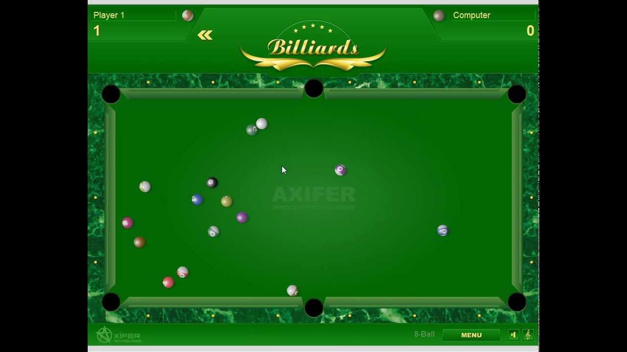 Как Играть в бильярд спортивная игра Billiards game - YouTube