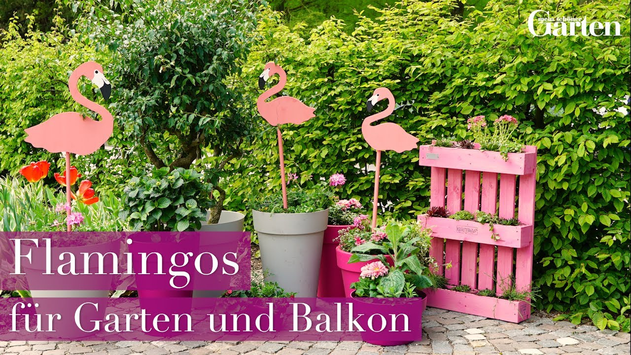 bastelanleitung deko flamingos f r garten und balkon. Black Bedroom Furniture Sets. Home Design Ideas