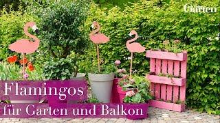 Bastelanleitung: Deko-Flamingos für Garten und Balkon - DIY