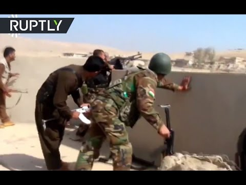 Mosul-op Combat Footage: Peshmerga & militants skirmish outside Iraqi 'ISIS capital