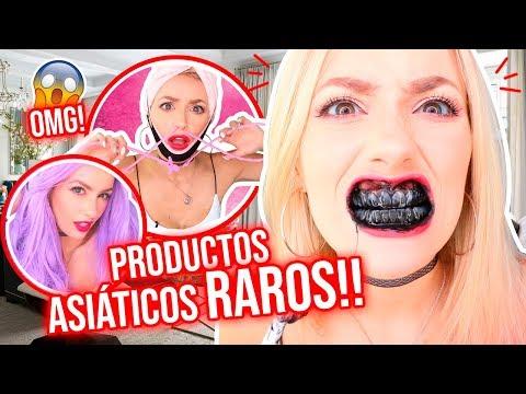 PROBANDO PRODUCTOS ASIÁTICOS RAROS!!! 😱 OMG!!   Katie Angel
