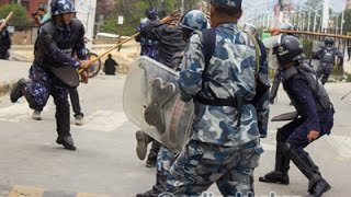 Protesters and police clash at New Baneshwor