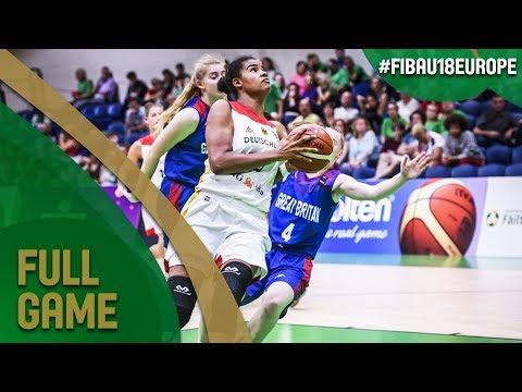 Germany v Great Britain - Full Game - Semi-Final - FIBA U18 Women's European Championship 2017-DIV B
