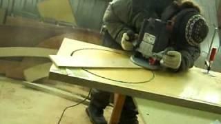 Вырезание отверстия под круглую мойку фрезером