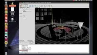 إنشاء G-code في BlenderCAM و فتح باستخدام LinuxCNC (سابقا EMC2) كما محاكاة في أوبونتو 12.04 LTS