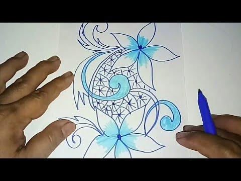 Sketsa Motif Batik Kontemporer 10 Youtube