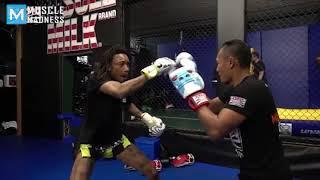 Wiz Khalifa Fighting Training   Muscle Madness