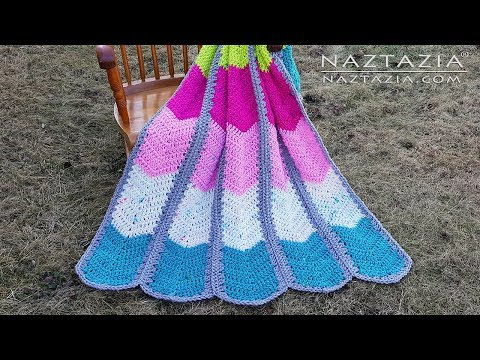 Learn How to Crochet Waterfall Ripple Blanket – Chevron Afghan with Super Bulky Weight Yarn