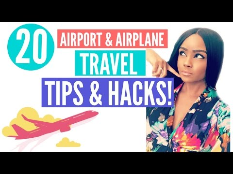 20 Airport & Airplane Travel TIPS & HACKS! | From A Flight Attendant