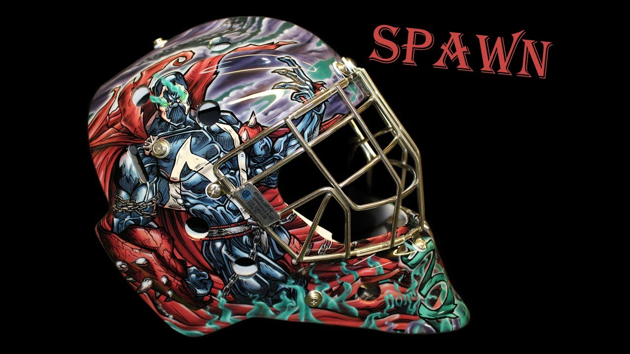 How To Airbrush A Goalie Mask Spawn Design Pt 1