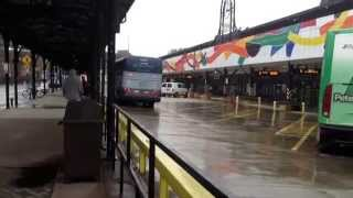 Greyhound and Peter Pan bus lines at union station Hartford CT