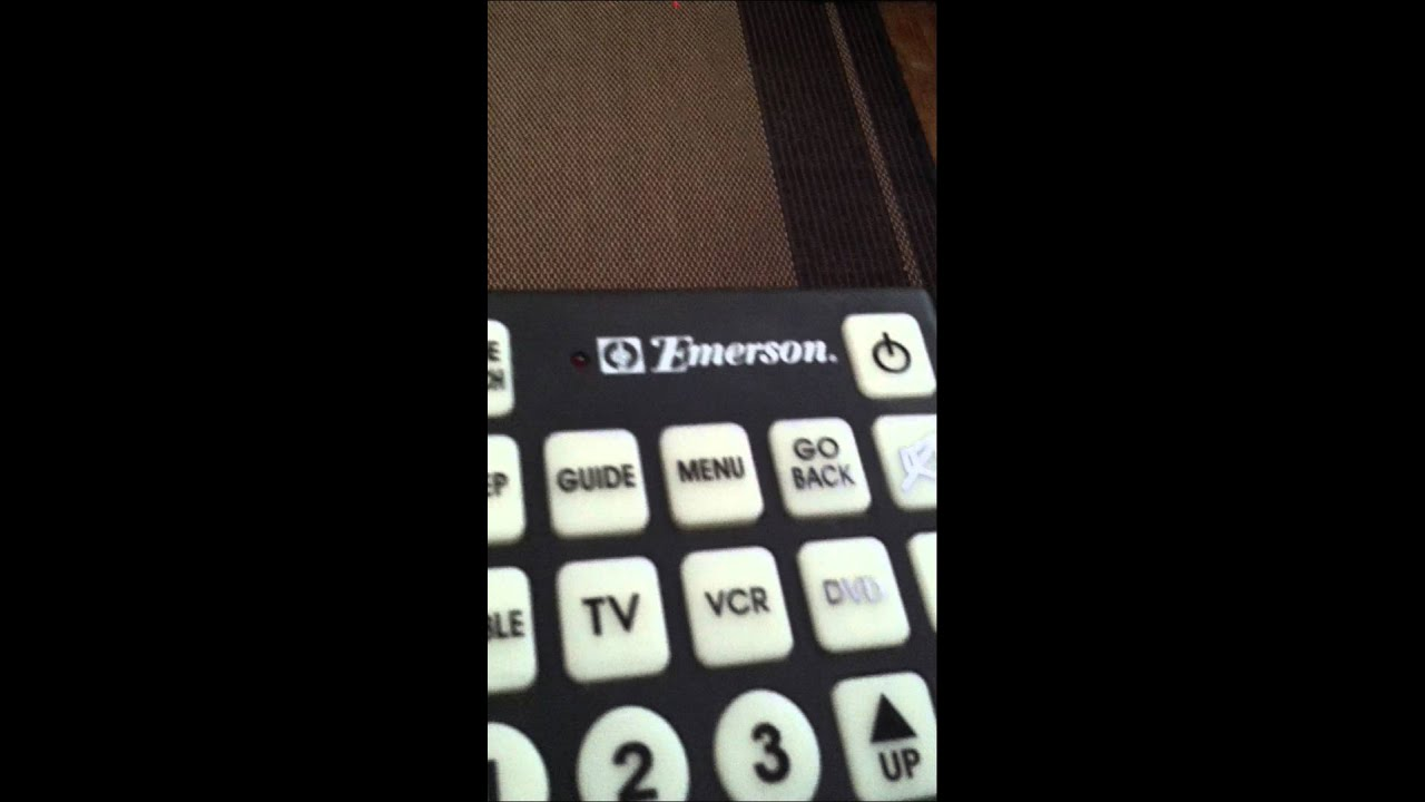 How To Program A Emerson Jumbo Universal Remote With Out Its Program