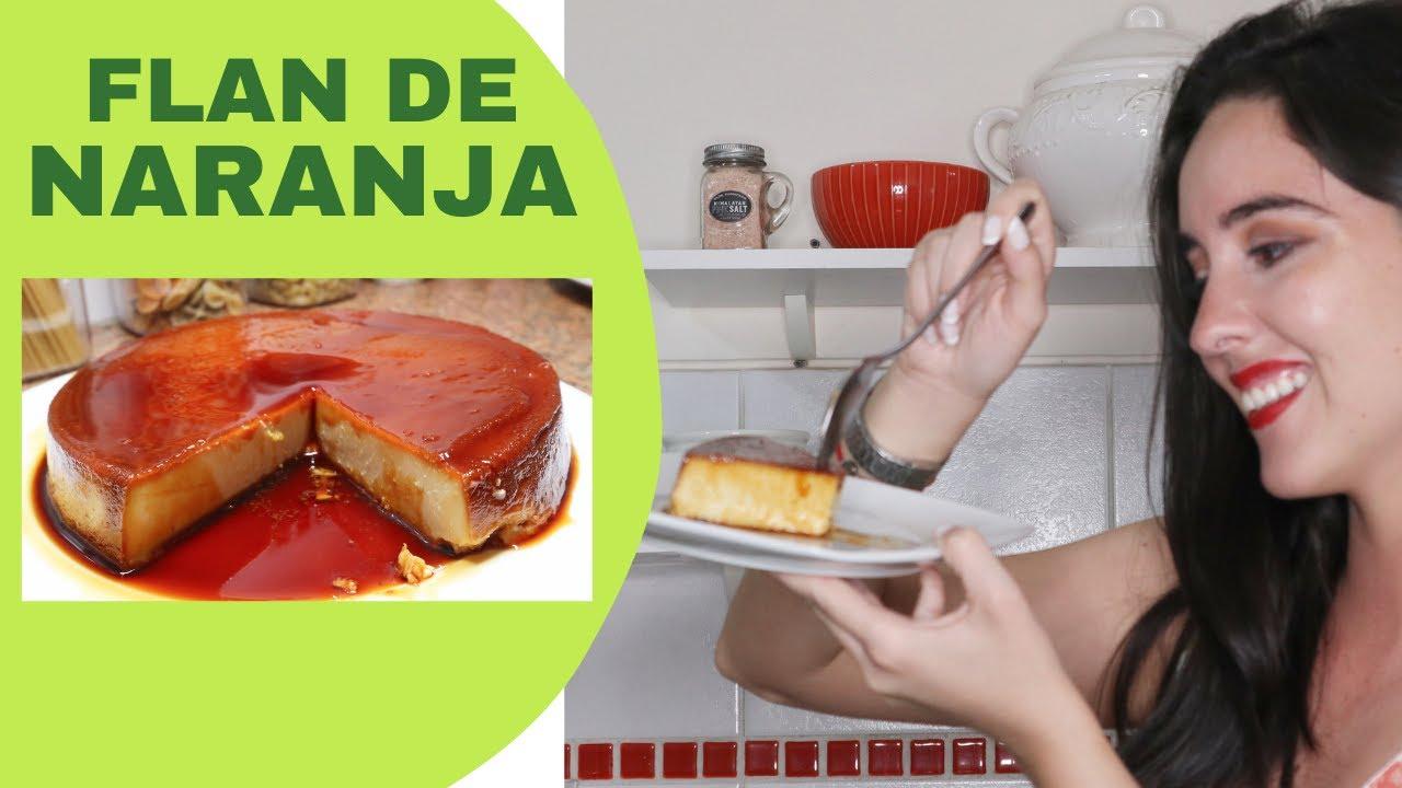 FLAN DE NARANJA - Recetas fáciles