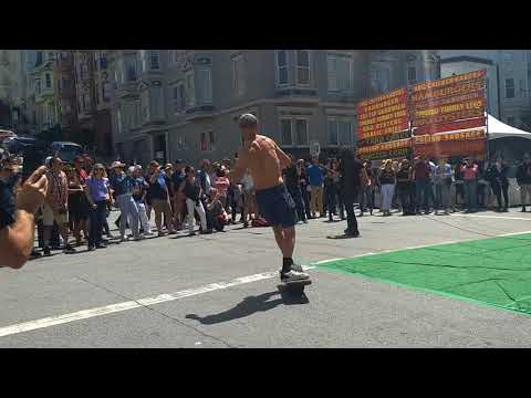Union Street Music Festival,2018, San Francisco,Funny Guy making a scene in the middle of a show