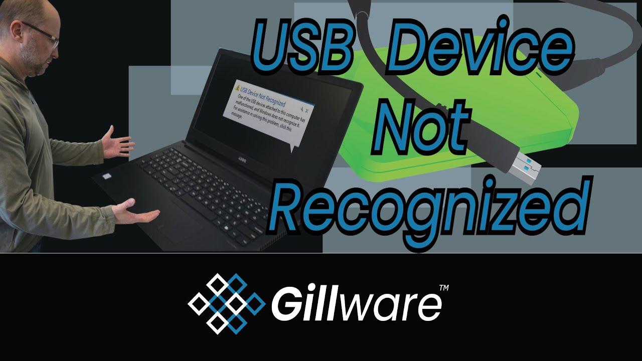 USB Not Recognized | USB Device Not Recognized | Error Code 43