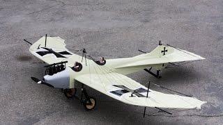 Maxford USA 1/9 Scale Rumpler Taube RC ARF Plane -wing warping