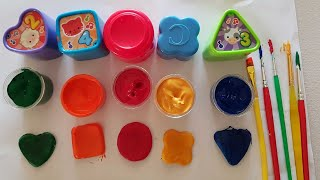 learn shapes & colors for children/air dry clay making shapes & painting/Alphabet song for kids