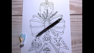 Christmas Candle -  drawing