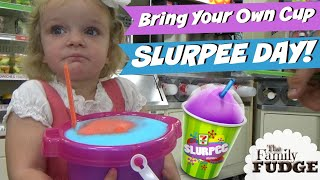 7-ELEVEN Bring Your Own Cup Day! || #SLURPEES || #byocupday