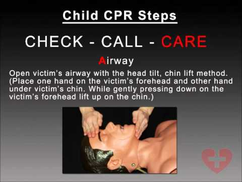 Child CPR 2010 guidelines training video following New CAB method How to CPR Video