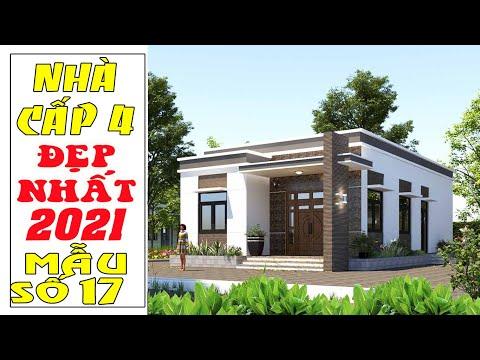 Nhà cấp 4 đẹp 2021: Mẫu số 17 | Nhà cấp 4 mái bằng 3 phòng ngủ | 8mx16m