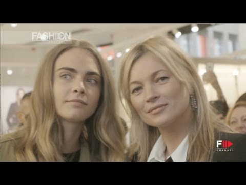 58d3f7997 CARA DELEVINGNE & KATE MOSS @ MANGO Store Opening in Milan by Fashion  Channel