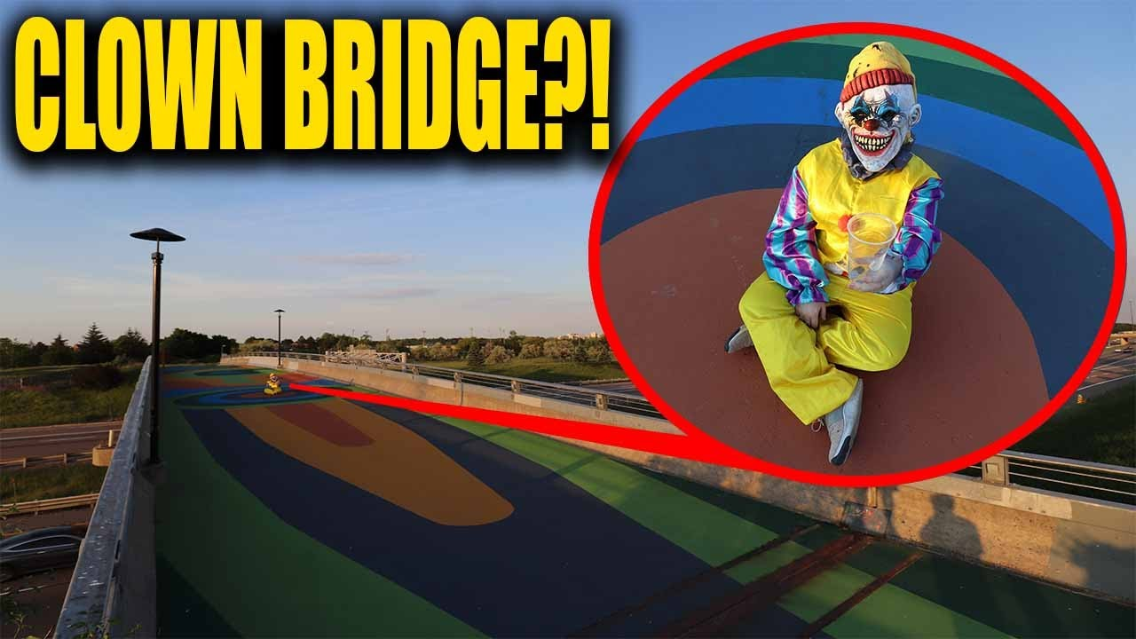 WE FOUND A HOMELESS CLOWN ON CLOWN BRIDGE!! (HE CHASED US)