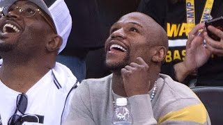 Floyd Mayweather Jr. Gets Booed at Warriors-Grizzlies Game, Laughs About It