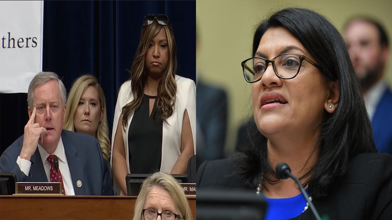 Rep Rashida Tlaib Calls Out GOP Rep For Using A BW As A Prop To Defend Trump