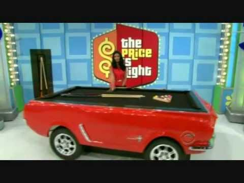 Ford Mustang Pool Table On The Price Is Right YouTube - Mustang pool table