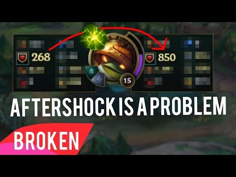 Aftershock Tanks Are Genuinely Broken (AD Players You've Been Warned) - League Of Legends Aftershock