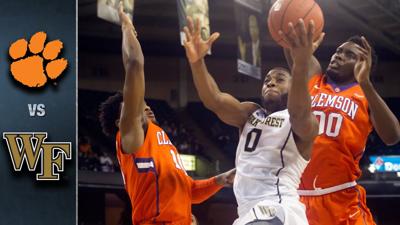 Image result for clemson vs wake forest basketball pic