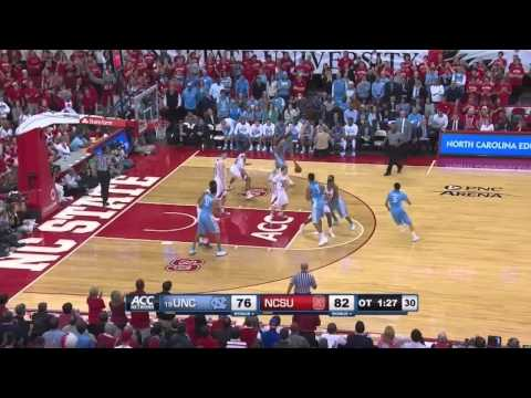 UNC Men's Basketball: Marcus Paige Post-Halftime Scoring vs. N.C. State