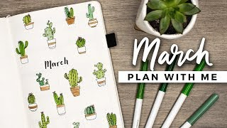 PLAN WITH ME   March 2018 Bullet Journal Setup