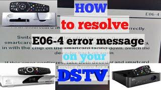 How to fix Smartcard error E06-4 on your DSTV screenshot 3