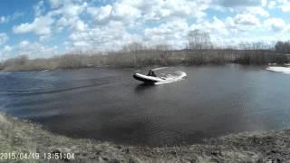 Резиновая лодка ПВХ и лодочный мотор 9.9 Первый выход на воду