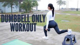 Dumbbell Only BOOTY and LOWER Body Workout